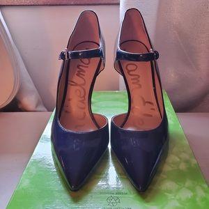 Sam Edelman Navy Patent D'Orsay Mary Jane Heels